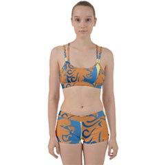 Lion Zodiac Sign Zodiac Moon Star Women s Sports Set