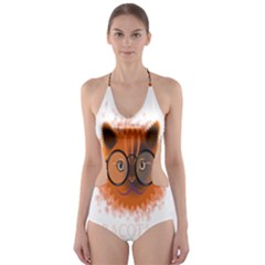 Cat Smart Design Pet Cute Animal Cut Out One Piece Swimsuit
