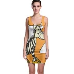 Zebra Animal Alphabet Z Wild Bodycon Dress