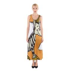 Zebra Animal Alphabet Z Wild Sleeveless Maxi Dress