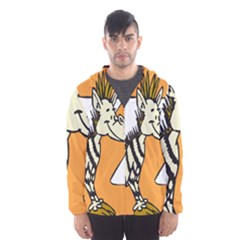 Zebra Animal Alphabet Z Wild Hooded Wind Breaker (men)