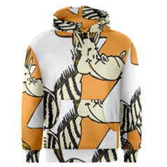 Zebra Animal Alphabet Z Wild Men s Pullover Hoodie