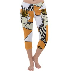 Zebra Animal Alphabet Z Wild Capri Yoga Leggings