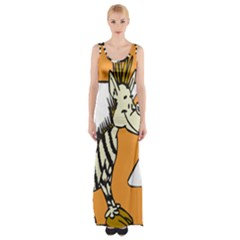 Zebra Animal Alphabet Z Wild Maxi Thigh Split Dress