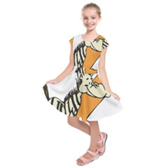 Zebra Animal Alphabet Z Wild Kids  Short Sleeve Dress
