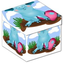 Pig Animal Love Storage Stool 12