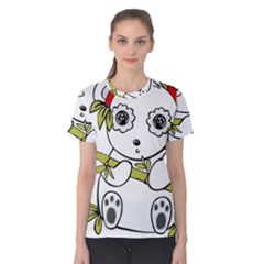 Panda China Chinese Furry Women s Cotton Tee