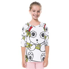 Panda China Chinese Furry Kids  Quarter Sleeve Raglan Tee