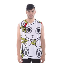 Panda China Chinese Furry Men s Basketball Tank Top