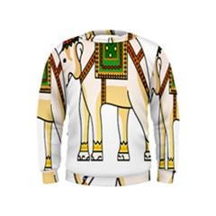 Elephant Indian Animal Design Kids  Sweatshirt