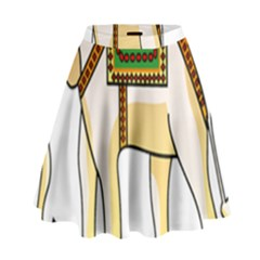 Elephant Indian Animal Design High Waist Skirt