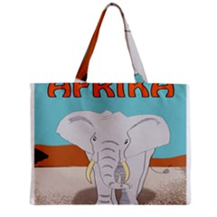 Africa Elephant Animals Animal Zipper Mini Tote Bag