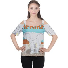 Africa Elephant Animals Animal Cutout Shoulder Tee