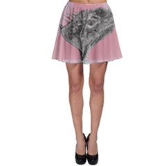Lizard Hexagon Rosa Mandala Emblem Skater Skirt