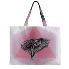 Lizard Hexagon Rosa Mandala Emblem Mini Tote Bag