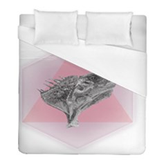 Lizard Hexagon Rosa Mandala Emblem Duvet Cover (full/ Double Size)