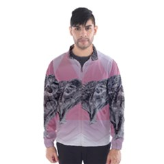 Lizard Hexagon Rosa Mandala Emblem Wind Breaker (men)