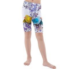 Flowers Floral Flowery Spring Kids  Mid Length Swim Shorts