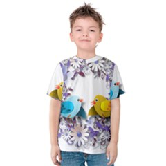 Flowers Floral Flowery Spring Kids  Cotton Tee