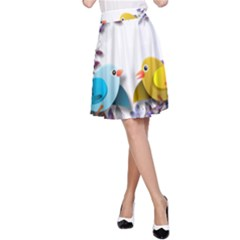 Flowers Floral Flowery Spring A Line Skirt
