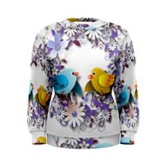 Flowers Floral Flowery Spring Women s Sweatshirt
