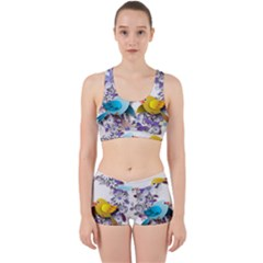 Flowers Floral Flowery Spring Work It Out Sports Bra Set