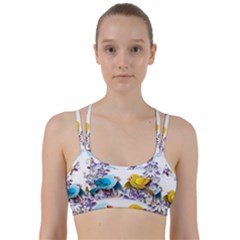 Flowers Floral Flowery Spring Line Them Up Sports Bra