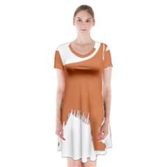 Irish Setter Silo Color Short Sleeve V Neck Flare Dress
