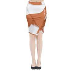 Irish Setter Silo Color Midi Wrap Pencil Skirt