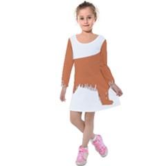 Irish Setter Silo Color Kids  Long Sleeve Velvet Dress