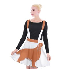 Irish Setter Silo Color Suspender Skater Skirt