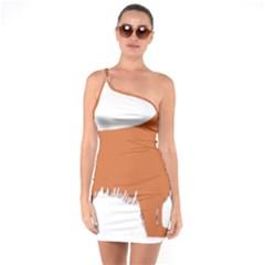 Irish Setter Silo Color One Soulder Bodycon Dress