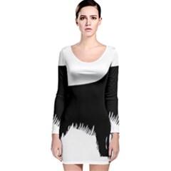 Irish Setter Silo Long Sleeve Velvet Bodycon Dress