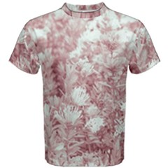 Pink Colored Flowers Men s Cotton Tee