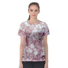 Pink Colored Flowers Women s Sport Mesh Tee