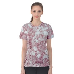 Pink Colored Flowers Women s Cotton Tee