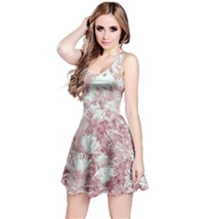 Pink Colored Flowers Reversible Sleeveless Dress