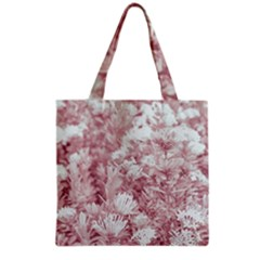Pink Colored Flowers Grocery Tote Bag