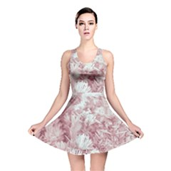 Pink Colored Flowers Reversible Skater Dress