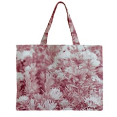 Pink Colored Flowers Mini Tote Bag