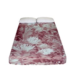 Pink Colored Flowers Fitted Sheet (full/ Double Size)