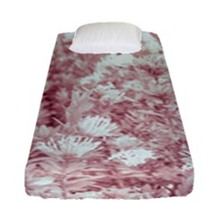Pink Colored Flowers Fitted Sheet (single Size)