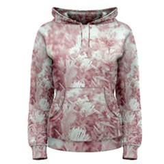 Pink Colored Flowers Women s Pullover Hoodie