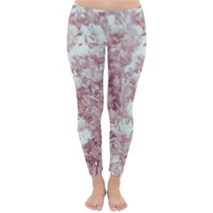 Pink Colored Flowers Classic Winter Leggings