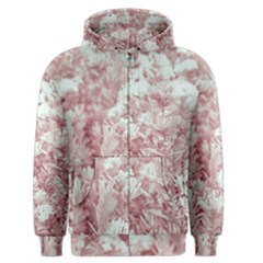 Pink Colored Flowers Men s Zipper Hoodie