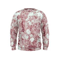 Pink Colored Flowers Kids  Sweatshirt