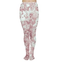 Pink Colored Flowers Women s Tights