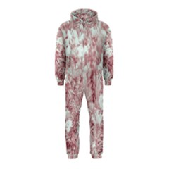 Pink Colored Flowers Hooded Jumpsuit (kids)