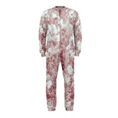 Pink Colored Flowers Onepiece Jumpsuit (kids)