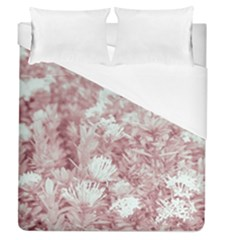 Pink Colored Flowers Duvet Cover (queen Size)